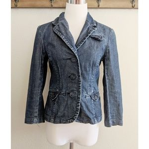 American Eagle denim blazer
